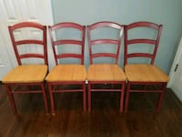 4 kitchen chairs maroon back and legs Kansas City, 64114