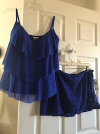 ** BRAND NEW WITH TAGS ** JESSICA SIMPSON COLLECTION ROYAL BLUE 2-PIECE SWIMMING SUIT (SIZE 12 - 14) Colorado Springs, 80923