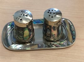 Antique salt and pepper shakers.