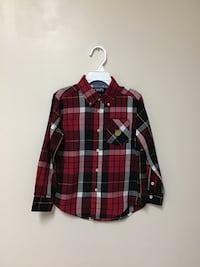 Boys CHAPS Cotton/polyester easy care Long sleeve plaid shirt… Size 5 Manasquan, 08736