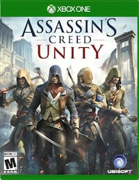 Assassin's Creed Unity Xbox One game case Stoney Creek