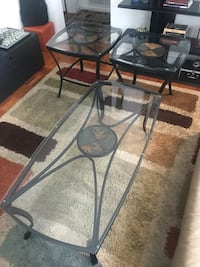 3-Piece Glass Coffee Table Set  Washington, 20020
