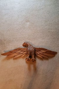 Hand-Carved Wooden Eagle Wall Decor