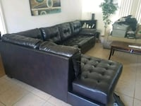 black leather sectional couch 804 mi