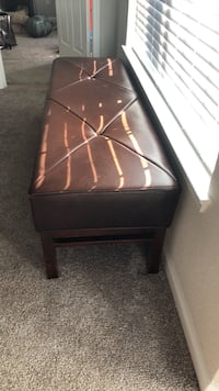 Brown Leather bench     Lawrenceville, 30043