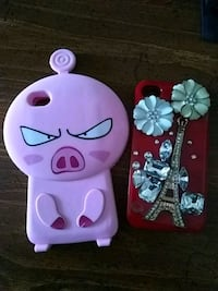 Eiffel tower and pig-accent iPhone cases Havana, 32333