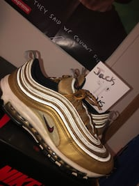 "Air Max 97 ""gold bullet italy"" size 10.5 Hagerstown, 21740"