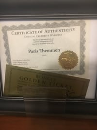Golden ticket signed by mike tv from Willy wonka with coa