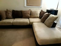 brown and black sectional couch 43 km
