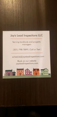 lead inspections in Maryland Washington