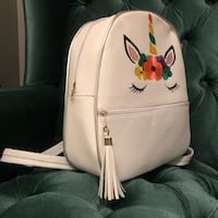 white and red floral print leather bag Laredo, 78041