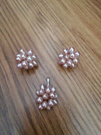 Pale lilac pearl earring&pendant set New Westminster, V3M 0A9