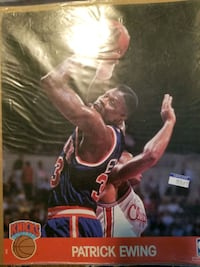 NBA 1990 Hoops Action Photo-Patrick Ewing, New York Knicks/Georgetown