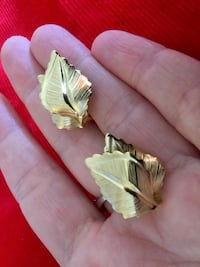Golden  leaves earrings - clips / Very nice gold over silver earrings  welcome to visit for more jewelry Alexandria, 22311