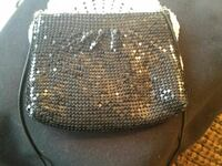 Metallic black purse for nights out!