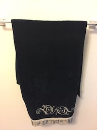 Black and silver towels