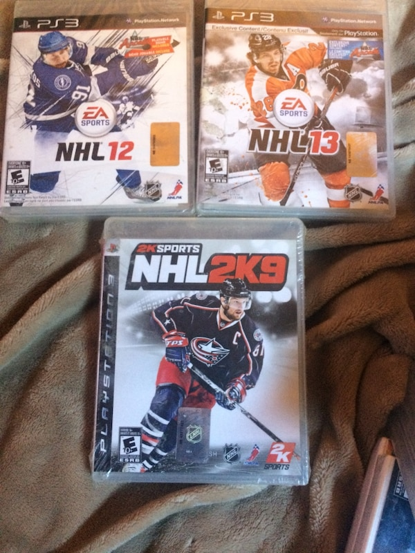 Psp Nhl 12&13 and Nhl 2K9 brand new still in wrap never opened
