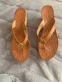 pair of brown leather sandals Houston, 77066
