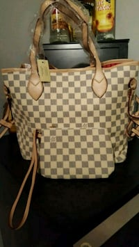 Damier Azur Louis Vuitton leather tote bag Falls Church, 22041