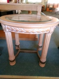 SOLID WOOD GLASS OVAL TOP COFFEE TABLE Palm Harbor, 34683