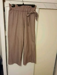Zara burgundy and white wide leg bucket pants Toronto, M1S 3M5