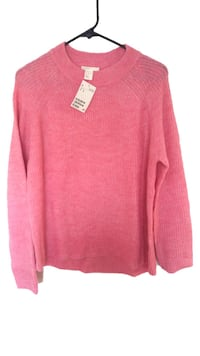nwt Pink Knit Sweater M Burnaby