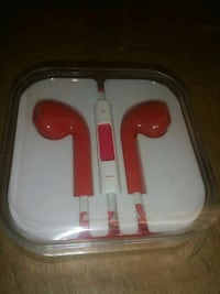 red and white earpods with clear case Edmonton, T5M 0K9