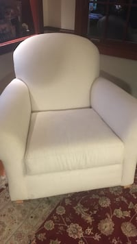 off-white Pottery Barn combed cotton rocking chair Norwell, 02061