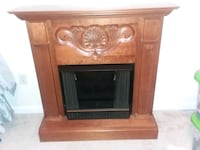 brown wooden framed gel fireplace Fairfax, 22030