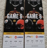 Steelers vs Browns 2 Lower Level Tickets Camp Hill, 17011