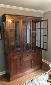 Ethan Allen China cabinet with lights