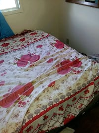 white, red, and green floral bed sheet Edmonton, T5Y 1J6