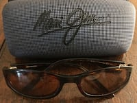brown-tinted maui jim sunglasses with tortoiseshel frame 592 km