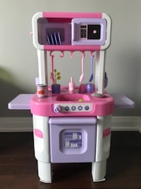 pink and white Little Tikes kitchen playset null