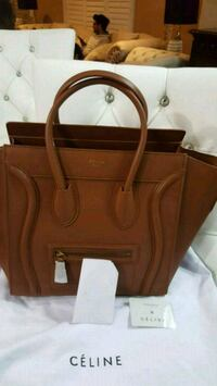 brown leather 2-way handbag Mississauga, L5W 1P1