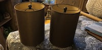2 lamp shades 13inches tall 10 inches diameter.  Des Plaines, 60016