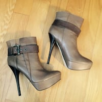 New Aldo brown leather angle boots 37, us6.5 New York, 11355