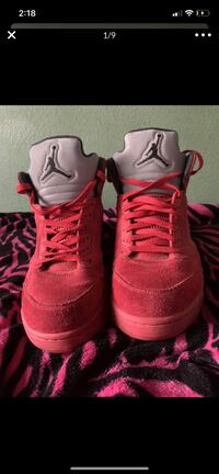 Red suede 5s size 12