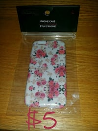 white and pink floral iPhone case