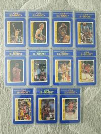 1986 Fleer Basketball Sticker Set Complete and Graded.