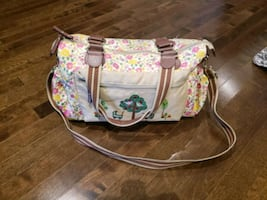 Diaper Bag with change pad & wet-wipe zipper