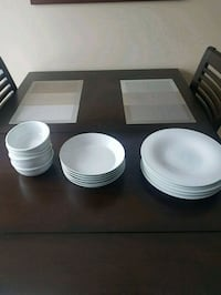 white ceramic plates and bowls Vaughan, L6A 1G6