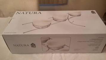 NATURA 3 PORCELAIN SERVING DISHES NEW