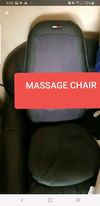 obusforme massage chair with heat . like new.