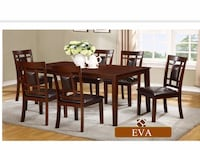 Brand new 7pc wooden dining set warehouse sale  马卡姆, L3R 5Z2