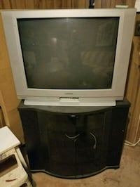 gray CRT television with stand Fort Washington, 20744