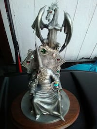 gray metal wizard and dragon figurine Langhorne, 19047