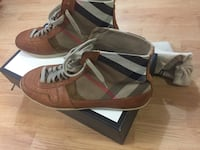 pair of brown-and-white Adidas sneakers Mississauga, L5V 2Y8