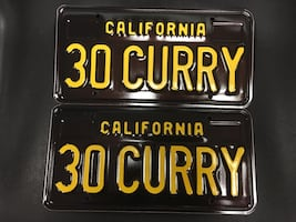 Golden State Warriors Stephen Curry DMV License Plate