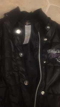 black leather zip-up jacket Edmonton, T6P 1S1